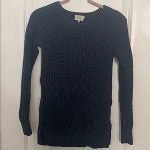 Navy Blue Chunky Knit Wilfred Sweater